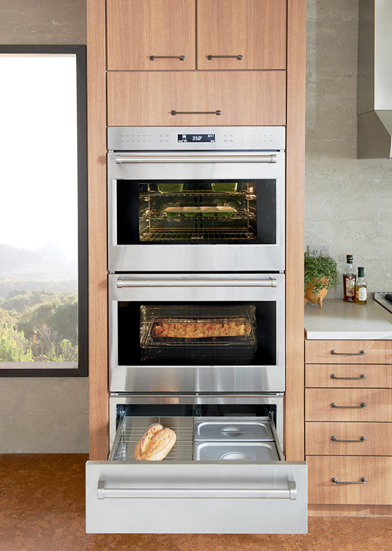 Built in e series professional double oven sub zero wolf for Built in kitchen cabinets philippines